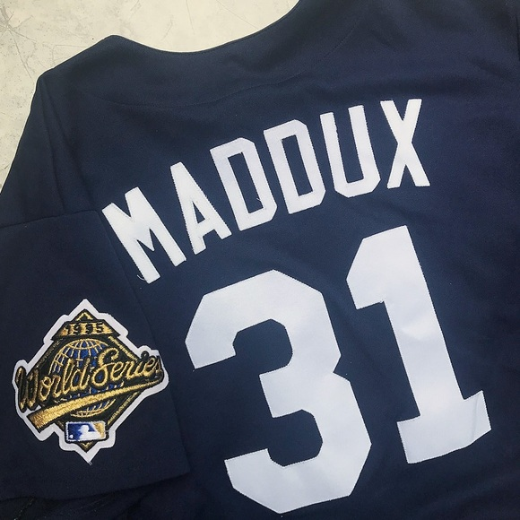 cheap for discount 6e6fd dd98b Greg Maddux 1995 World Series Braves Jersey
